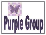 Purple Group Sign