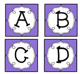 Purple Guided Reading Labels / Word Wall Letters aa-Z