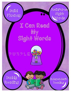 Purple Gumbal Sight Words in Sentences