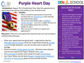 Purple Heart Day - August 7th CLIP