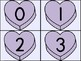 Purple Heart Number Flashcards 0-100