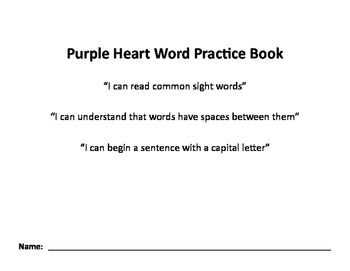 Nellie Edge Purple Heart Word Practice Book