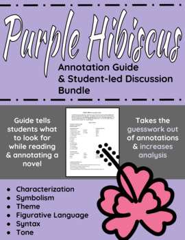 Purple Hibiscus Worksheets Teaching Resources Tpt