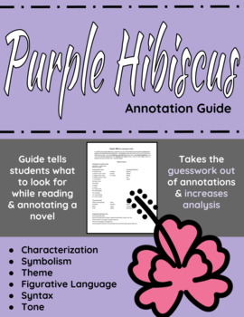 Purple Hibiscus Annotation Guide