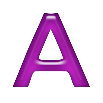 Alphabet Clip Art Purple Jelly + Numerals, Maths symbols and Punctuation Marks