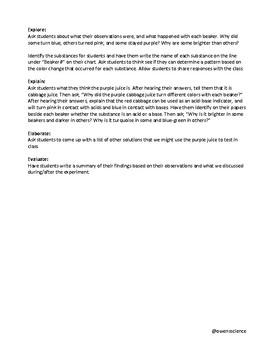 Purple Juice Lab - Acid/Base Testing Inquiry Demonstration