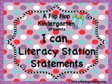Purple Labels, I Can Statements, and Classroom Helpers