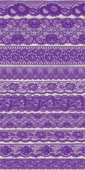 Purple Lace Clipart, Vintage Lace borders clip art scrapbook png overlays