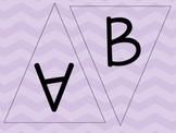 Purple, Lavender Chevron Letters - Chevron Pennants - Chev