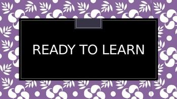 Purple/ Lavender Classroom Management Clip System