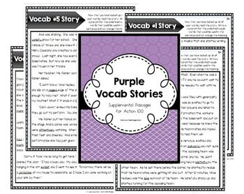Purple Level Vocab Passages