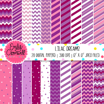 Purple Lilac Digital Paper