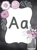 Purple Mason Jar Alphabet