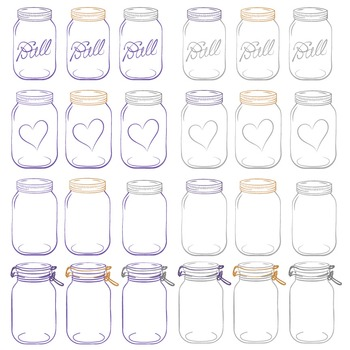 Purple Mason Jars Clipart & Vectors - Ball Jar Clipart