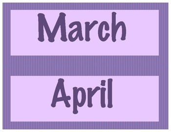 Purple Months of the Year