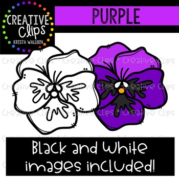 Purple Objects Clipart {Creative Clips Clipart}