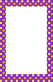 Purple, Orange, Yellow Polka dot Border