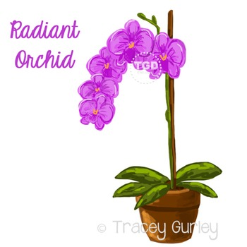 Purple Orchid - purple orchid clip art Printable Tracey Gurley Designs