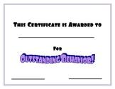 Purple Outstanding Behavior Certificate