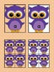 Purple Owl  Dolch PrePrimer High Frequency Sight Word Flashcards & Posters