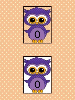 Purple Owl Full Page Math Number Posters 0-100