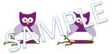 Purple Owl Tag
