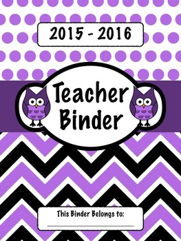 Purple Owl Teacher Binder