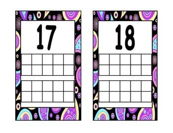Purple Paisley Tens frames
