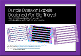 Purple Passion Big Tray Labels