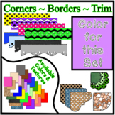 Purple Pastel Borders Trim Corners *Create Your Own Dream Classroom/Daycare*