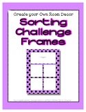 Purple Pastel Sorting Mat Frames * Create Your Own Dream C