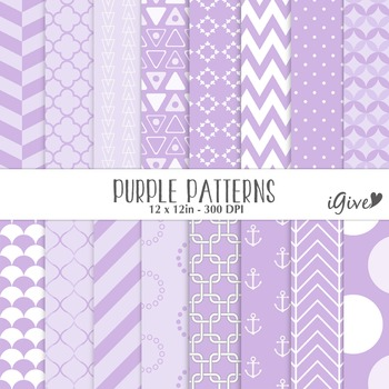 Purple Patterns - Geometrical Digital Background