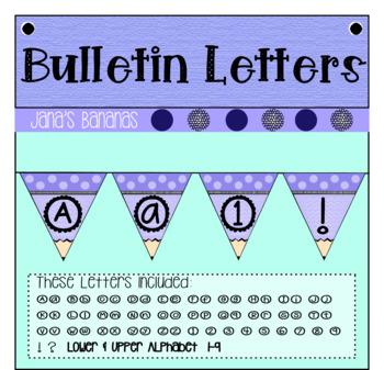 Bulletin Board Letters: Purple Pencil