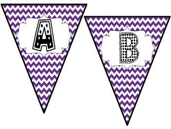 Purple Pennant Banner