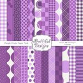 Purple Petals Paper Pack