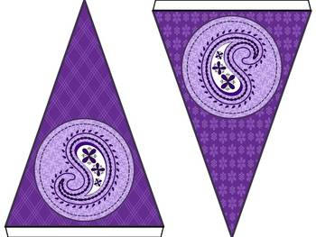 Purple Pizzazz Welcome Banner Set
