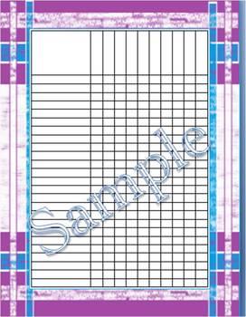 Purple Plaid Incentive Chart/Grade Chart