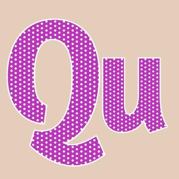 Purple Polka Dot Alphabet Clip Art + Numerals, Punctuation and Math Symbols