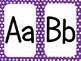 Purple Polka Dot Alphabet (large)