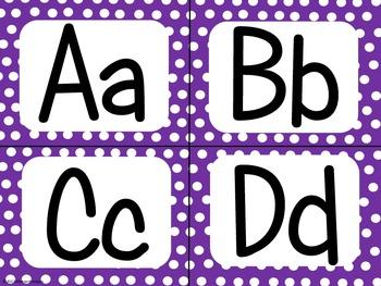 Purple Polka Dot Alphabet (small)