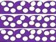 Purple Polka Dot Border