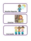 Purple Polka Dot Job Chart