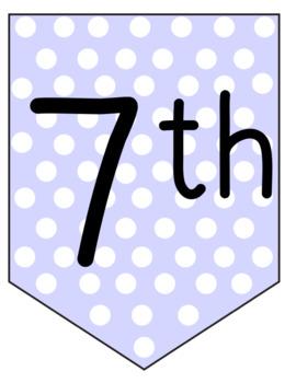 Purple Polka Dot Pennant Banners