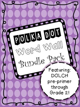 Purple Polka Dot Word Wall Bundle