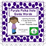 Purple Polka Dots: Guide Words Dictionary Activity