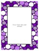 Purple Poster Frames * Create Your Own Dream Classroom / Daycare *