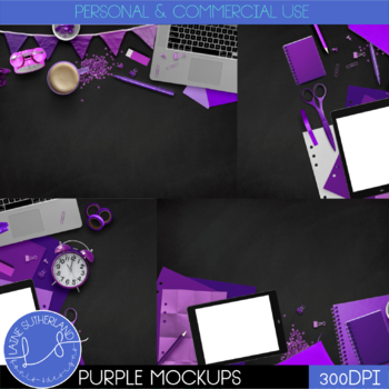 Purple Primary Brights Style Mockups
