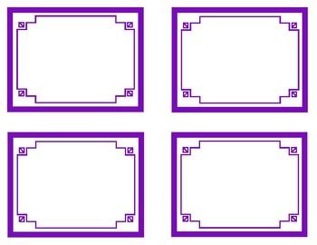 Purple Printable Classroom Decor