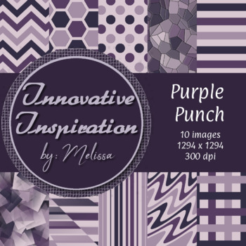 Purple Punch: Digital Papers {Innovative Inspiration}