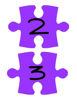Purple Puzzle Piece Line Up Visual 1-30